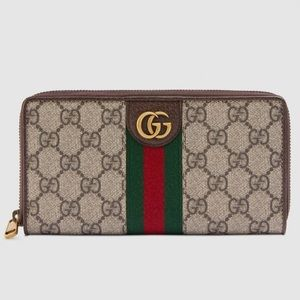 GG double zip around wallet